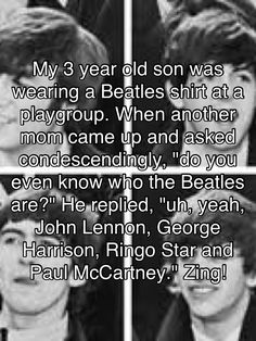Can't wait to teach my son all about music. I have a Beatles shirt that he just has to grow in =)