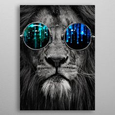 Lion in shades by Catty Milchard | Displate