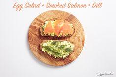 Egg Salad + Smoked Salmon + Dill Sandwich