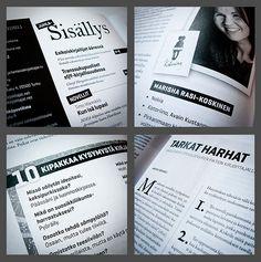 Kosmoskynä-magazine redesign by Teemu Helenius, via Behance