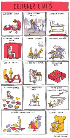 INCIDENTAL COMICS by Grant Snider: Designer Chairs