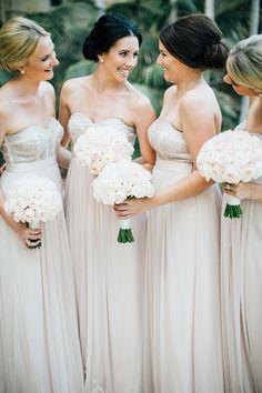 loooove these sparkling blush bridesmaids dresses