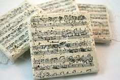 Tile Coasters Sheet Music Wedding Favor by seasonaldelights Keywords: #weddings #jevelweddingplanning Follow Us: www.jevelweddingplanning.com  www.facebook.com/jevelweddingplanning/