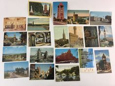 Lot of 20 Vintage Postcards early 1900's to about 1960's US and Foreign
