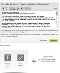 #XING-Unternehmensprofil jetzt neu mit Video-, PDF Upload und HTML-Editor