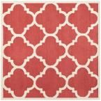 Cambridge Rust/Ivory (Red/Ivory) 8 ft. x 8 ft. Square Area Rug