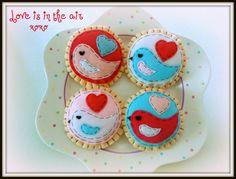 Love is in the Air  Valentines Eco friendly by buttercreamforest, $12.00
