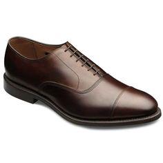 Allen Edmonds Park Avenue Cap-toe Oxfords 5615 Black Custom Calf $345