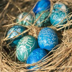 Love love love these Ocean Inspired Easter Eggs.  Now if I just had a beach house to go with them