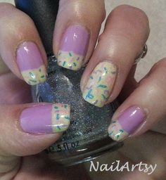 By Valerie Wilson - Pastel Party - French Mani Nail Art - Gallery - Nail Artsy