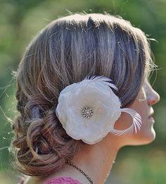 Wedding hair so sweet!
