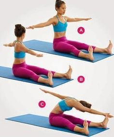 In general, almost every move in Pilates works your core, but if you want to flatten your abs then there's definitely a way how you can do it. We offer you 9 belly-sculpting Pilates exercises that shape a six-pack in no time. Pilates Workout, Abs Pilates, Pilates Training, Fitness Pilates, Ab Workouts, Training Exercises, Core Exercises, Weight Exercises, Body Fitness
