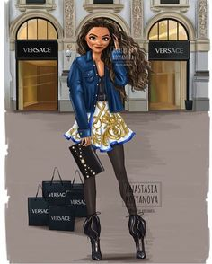 Anastasia Kosyanova zeichnet die Disney-Prinzessinnen als Fashionistas - KlonBlo. All Disney Princesses, Disney Princess Drawings, Disney Princess Art, Disney Drawings, Disney Art, Moana Disney, Drawing Disney, Princess Cartoon, Disney Movies