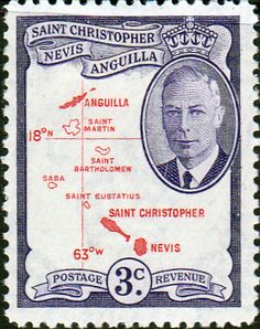 1952 St Christopher Nevis Anguilla King George VI SG 96 Fine Mint SG 96 Scott 109 Other British Commonwealth Stamps Here