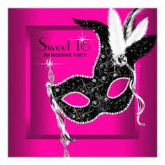 Hot Pink Black Sweet 16 Masquerade Party Custom Invite so please read the important details before your purchasing anyway here is the best buyDeals          Hot Pink Black Sweet 16 Masquerade Party Custom Invite Online Secure Check out Quick and Easy...