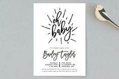 Oh Baby! Baby Shower Invitations by Christine Taylor at minted.com