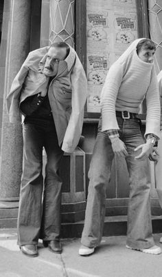 Monty Python - John Cleese and Michael Palin. New York, 1978. S)