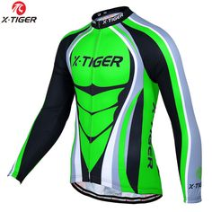 X-Tiger 2017 Pro Winter Fleece Cycling Jersey Long Sleeve MTB Bicycle Clothing Thermal Bike Wear Invierno Maillot Ropa Ciclismo #Affiliate