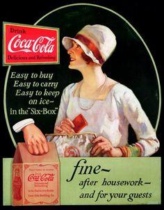 Coca-Cola Flapper w/Purse 1928