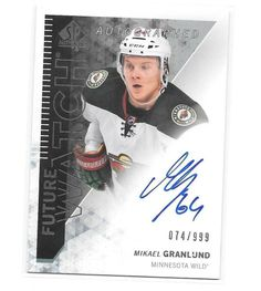 2013-14 SP Authentic #319 Mikael Granlund Future Watch Wild Rookie RC Auto /999 #MinnesotaWild