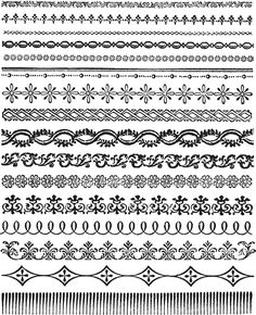 Add the perfect trim to your project with the Ornate Trims Cling Mounted Rubber Stamp Set designed by Tim Holtz for Stampers Anonymous. Included in the package Mandala Art Lesson, Mandala Drawing, Border Pattern, Border Design, Graphic Design Software, Logo Design, Design Design, Design Ideas, Iron Orchid Designs