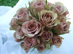 Vintage dusky pink rose bouquet from A White Hot Wedding