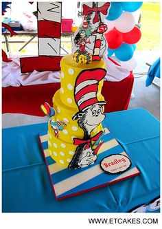 Cat In The Hat Birthday Cake Etcakes See More Cakes At