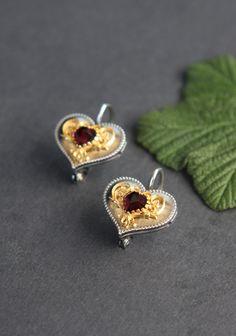 Stud Earrings, Jewelry, Brooch, Filigree Jewelry, Jewelry Gifts, Gemstone Earrings, Stud Earring, Dirndl, Earrings