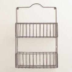 One of my favorite discoveries at WorldMarket.com: Galvanized Ashton 2-Tier Wall Basket