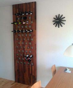 Vinreol i valnød specialfremstillet til kunde