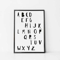 alphabet poster abc print alphabet wall art nursery - Kid Pictures To Print