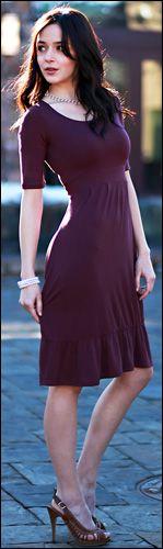 Modest Plum Dress