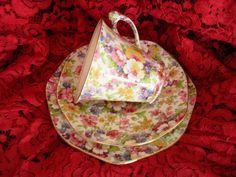"""Trio Art Deco  England """"Du Barry"""" James Kent LTD Fenton Inf- 1530144082 retroteaandcoffee@gmail.com Face; Retrotea andcoffee"""