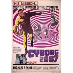 Cyborg 2087 Giant 1966 Drive-In Movie Poster