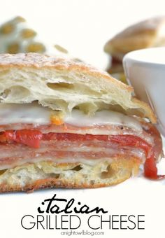 What is better than a good grilled cheese? Kick it up a notch with some gourmet Italian items and you'll have one delish sandwich!