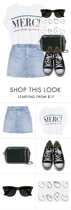 """""""Sin título #12431"""" by vany-alvarado ❤ liked on Polyvore featuring GRLFRND, Lovers + Friends, STELLA McCARTNEY, Converse, Ray-Ban and ASOS"""