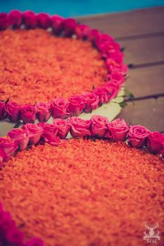 Roses and marigolds