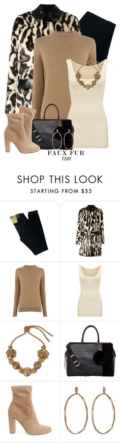 """Leopard Faux Fur Coat"" by talvadh ❤ liked on Polyvore featuring Big Star, Carven, Warehouse, American Vintage, Lanvin, Trina Turk, Steve Madden and fauxfurcoats"