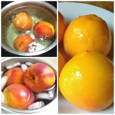 Pealing peaches without a knife!