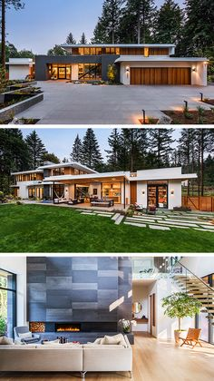 Wildwood Residence by Giulietti Schouten Architects in Portland, Oregon - Architektur heute morgen gestern - Architecture Modern House Plans, Modern House Design, Modern House Styles, Modern Exterior, Exterior Design, Dream House Exterior, Villa Design, Design Art, Modern Architecture House