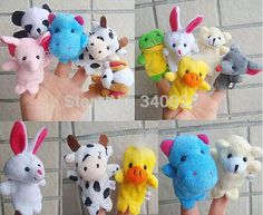 Free Shipping 15PCS/Lot Baby Plush Toy/Finger Puppets/Tell Story Props(10 Animal Group)Animal Doll /Kids Toys/Children Gift BP53