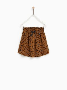 Image 1 of LEOPARD PRINT SKIRT from Zara Short Fille, Kids Fashion, Winter Fashion, Zara Official Website, Leopard Print Skirt, Girl Outfits, Fashion Outfits, Stylish Boys, Kind Mode