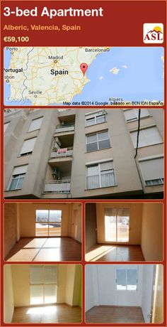 3-bed Apartment in Alberic, Valencia, Spain ►€59,100 #PropertyForSaleInSpain