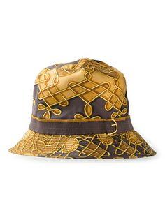 Herm�s Vintage Printed Bucket Hat