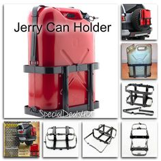 Jerry Can Holder 5 Gallon 20L Gas Fuel Army NATO Military Metal Steel Tank Black #Smitty