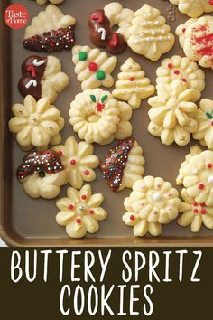 Treat your family and friends to something sweet with one of our best Christmas cookie recipes. You'll find cutouts, gingerbread and more. Köstliche Desserts, Holiday Baking, Christmas Desserts, Christmas Cupcakes, Galletas Cookies, Xmas Cookies, Butter Cookies Christmas, Christmas Biscuits, Christmas Snacks