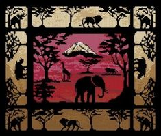 "Free cross-stitch pattern ""Kilimanjaro"" 