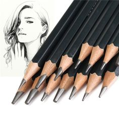 14 Pieces Sketch Drawing Pencil Set 12B10B 8B 7B 6B 5B 4B 3B 2B 1B HB 2H 4H 6H