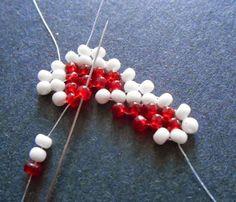 Inspirational Beading: Beading Tutorial: Valentine Heart Potawatomi Chains