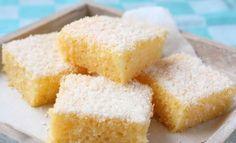 Eggless Semolina Coconut Cake via Flour Recipes, Vegan Recipes, Tortillas Veganas, Semolina Cake, Different Cakes, Food Humor, Desert Recipes, No Bake Desserts, Appetizer Recipes